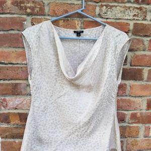 Cowell  neck silk shirt